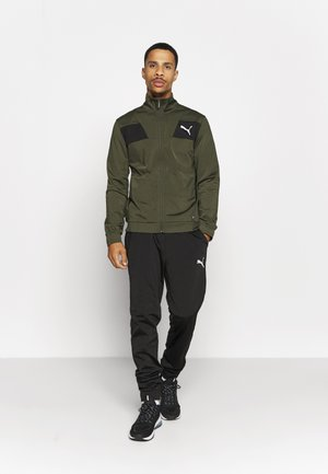 TECHSTRIPE TRICOT SUIT - Tracksuit - forest green