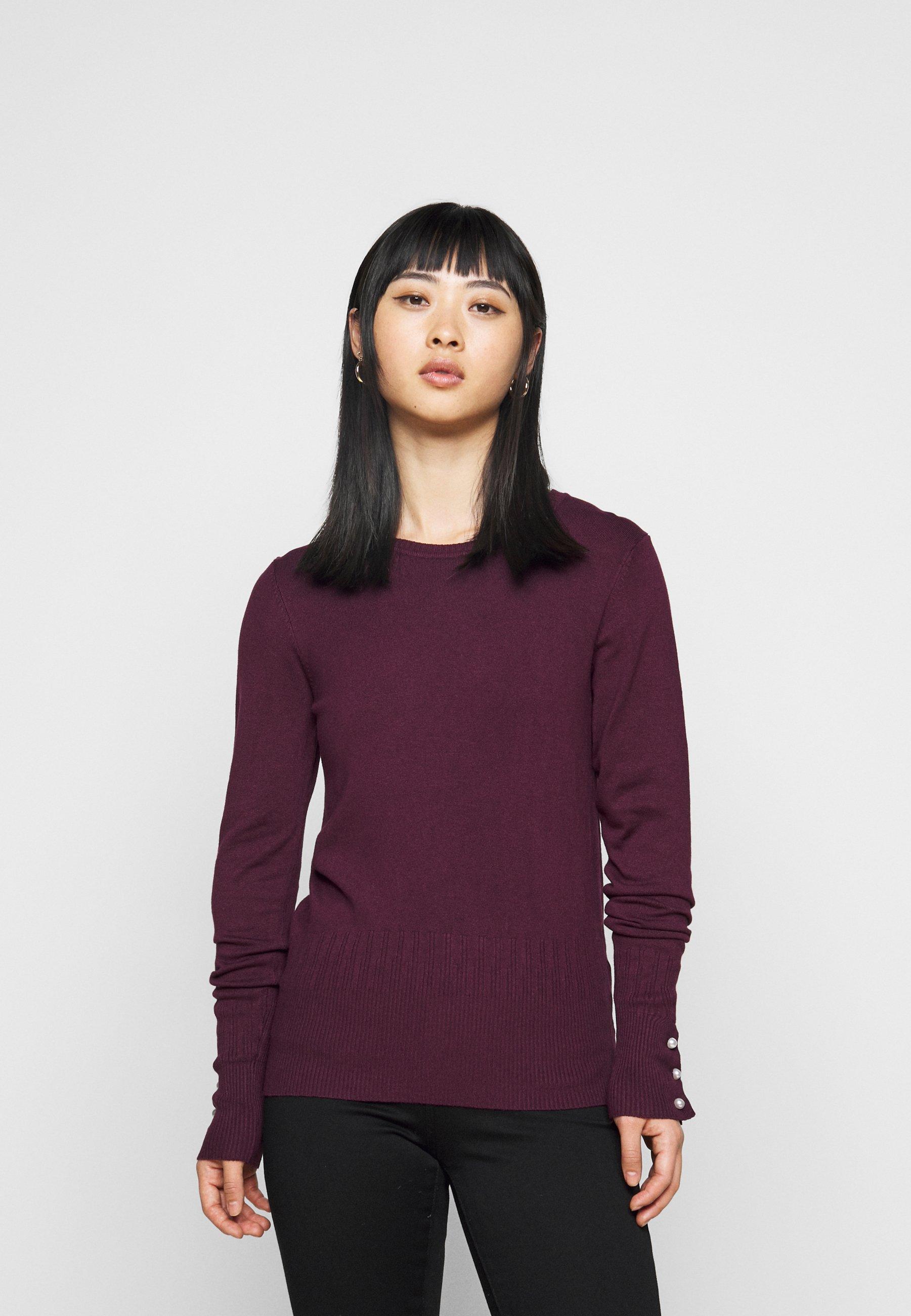 Femme PEARL CUFF CREW NECK JUMPER - Pullover