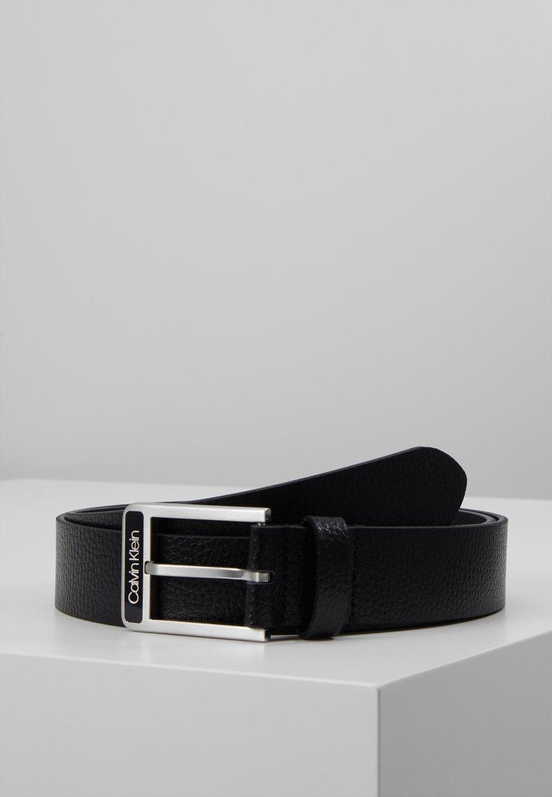 Calvin Klein - 35MM ENAMEL BUCKLE  BELT - Pásek - black