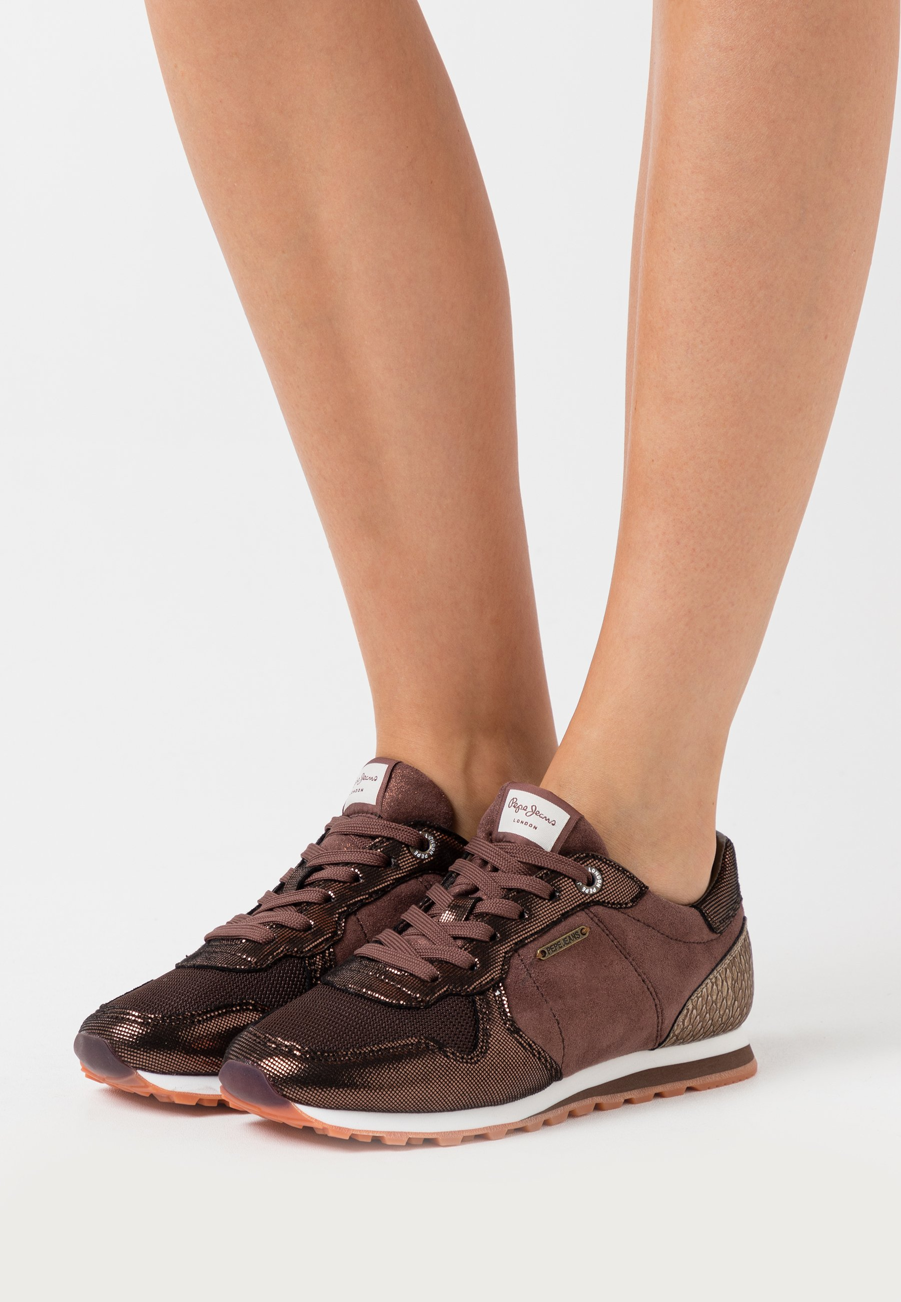 Best Seller Factory Price Women's Shoes Pepe Jeans VERONA TOP Trainers dark mocca BLiAcXAcK KGkmcbeuO