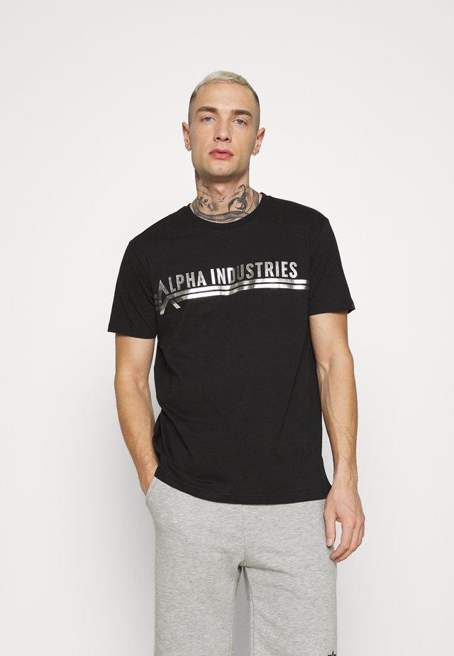 Print T-shirt - black/metalsilver