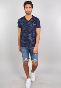 Gabbiano - Print T-shirt - navy - 1