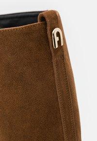 Furla - GRETA HIGH BOOT - High heeled boots - cognac/talco/nero - 4