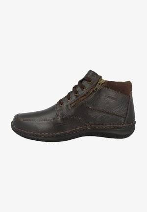 Lace-up ankle boots - moro