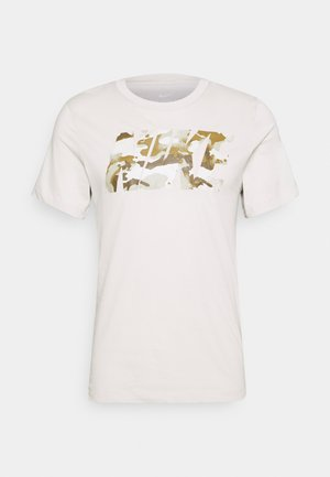 DRY TEE BLOCK - Camiseta estampada - light bone