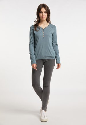 PINCH SOLID - Long sleeved top - dusty green