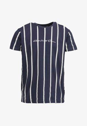 MOFFAT - Print T-shirt - navy/grey