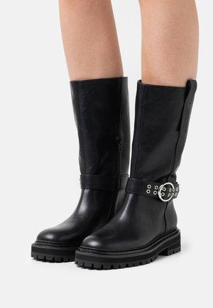 DETTAGLIO FIBBIA - Cowboy/Biker boots - nero