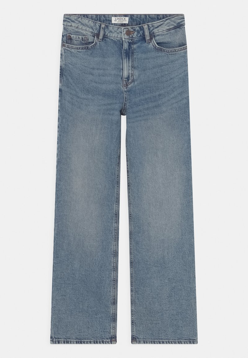 Lindex - WIDE LALEH - Jeansy Relaxed Fit - blue denim