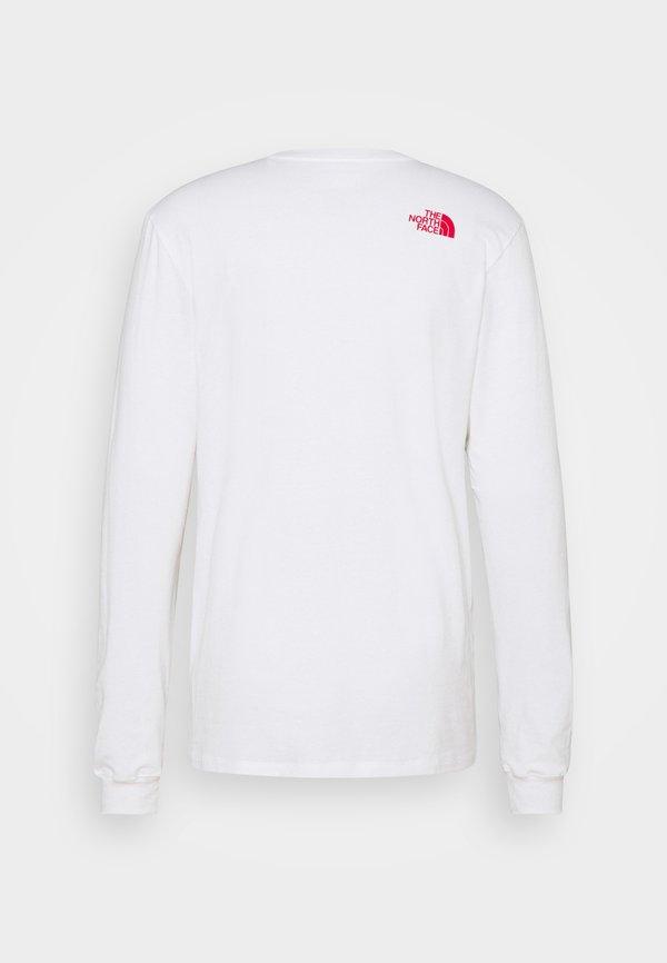 The North Face KARAKORAM GRAPHIC TEE - Bluzka z długim rękawem - white/biały Odzież Męska XPBC