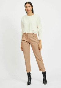 Vila - HOHER BUND - Straight leg jeans - tigers eye - 1