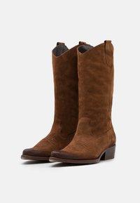 Felmini - WEST - Cowboy/Biker boots - marvin brown/vintage oiled - 2