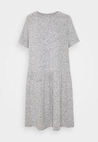 NMJOSE LOOSE DRESS - Vestido de punto - dark grey melange