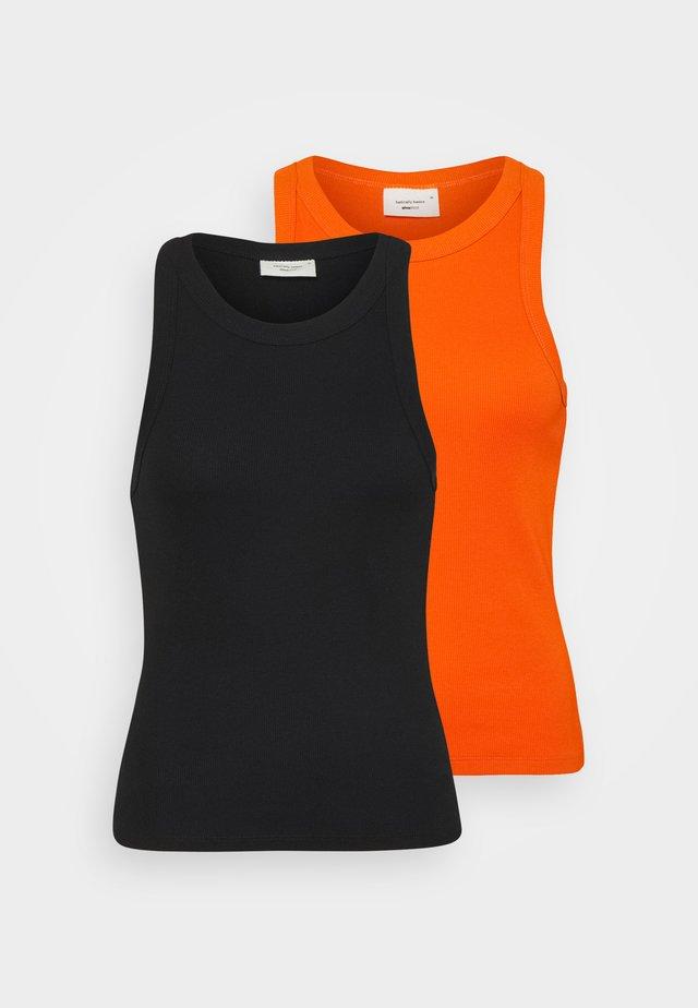 NOVA TANK 2 PACK - Débardeur - orangeade/black