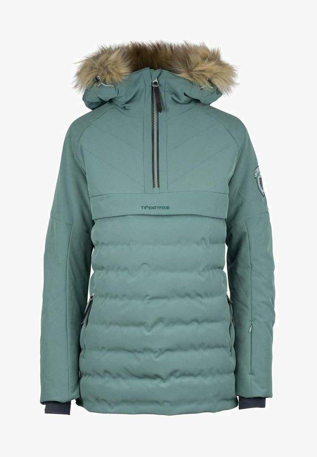 FINSE REPREVE ANORAKK D - Snowboard jacket - døs grønn