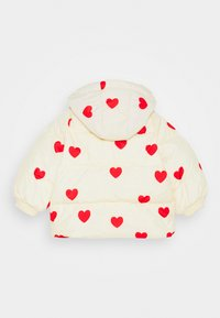 Mini Rodini - BABY HEARTS PICO PUFFER JACKET - Winter jacket - offwhite - 1