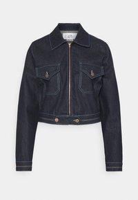 Victoria Victoria Beckham - RAINBOW STITCH HARRINGTON JACKET - Denim jacket - raw - 5