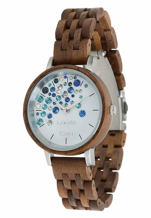 LAIMER QUARZ HOLZUHR - ANALOGE ARMBANDUHR CAPRI WALNUSS - Watch - brown