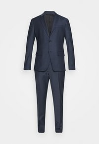 Calvin Klein Tailored - STRETCH SMALL GRID SUIT - Trousers - blue - 8