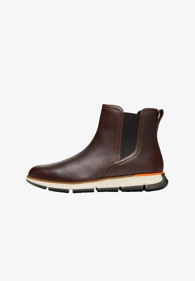 Korte laarzen - chestnut leather
