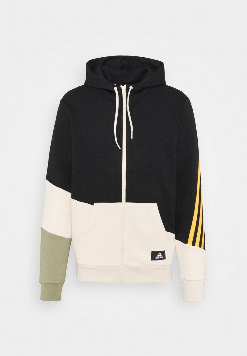 adidas Performance - COLORBLOCK FULL ZIP SEASONAL - Zip-up sweatshirt - black