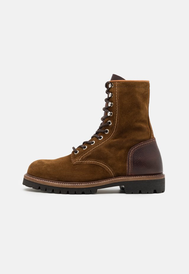 MARSHALL - Lace-up boots - cognac