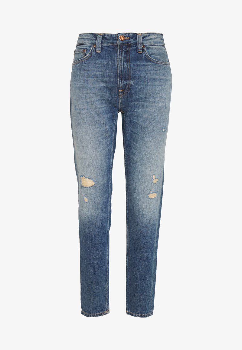 Nudie Jeans - BREEZY BRITT - Relaxed fit jeans - destroyed denim