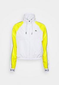 Lacoste Sport - TRACKJACKET - Training jacket - white/palm green/pineapple/navy blue - 0