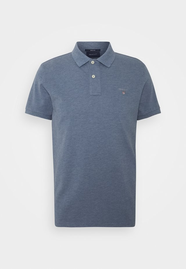 THE ORIGINAL RUGGER - Polo shirt - denim blue melange