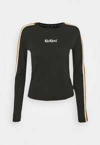 Kickers Classics - SLEEVE PANEL LONGSLEEVE RINGER - Maglietta a manica lunga - black/brown - 0