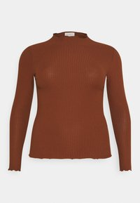 ONLY Carmakoma - CARALLY HIGH NECK - Long sleeved top - cherry mahogany - 4