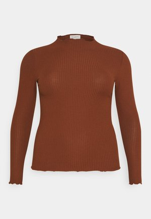 CARALLY HIGH NECK - Long sleeved top - cherry mahogany