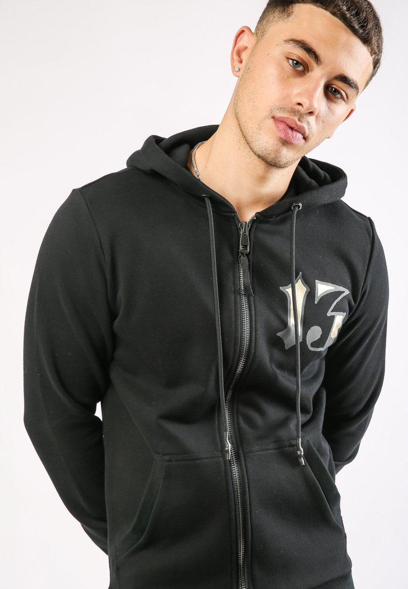 Ed Hardy - DRAGON-13 ZIP THRU FLEECE SWEAT HOODY - Zip-up hoodie - black