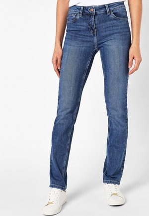 PETITE - Slim fit jeans - mottled blue