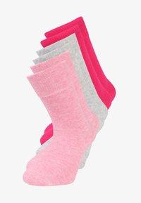 pink melange/fog melange/pink rose