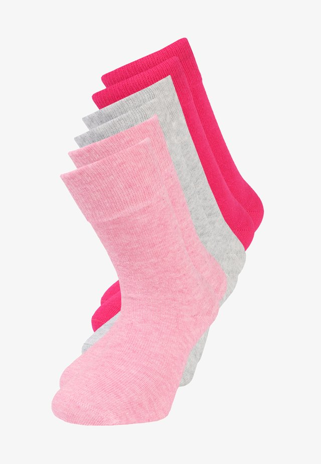SOFT 6 PACK - Socks - pink melange/fog melange/pink rose
