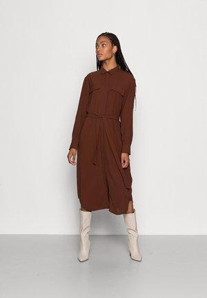 WOVEN MIDI BLOUSE DRESS  - Maxi dress -  brown