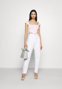 Missguided - RUCHED BUST CORSET TOP - Blouse - pink - 1