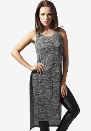 Jersey dress - grey/white
