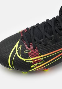Nike Performance - MERCURIAL 8 ACADEMY MG UNISEX - Moulded stud football boots - black/cyber/off noir - 5