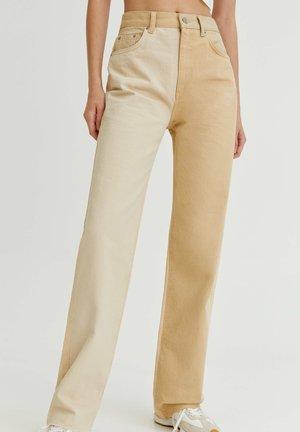 PATCHWORK - Jeans straight leg - mottled beige