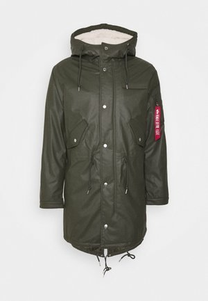 RAINCOAT - Parka - dark olive
