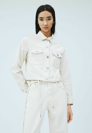 TIFFANY ROPE - Denim jacket - blanco off