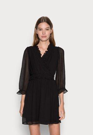 VMCARINA 3/4 FLOUNCE DRESS - Day dress - black