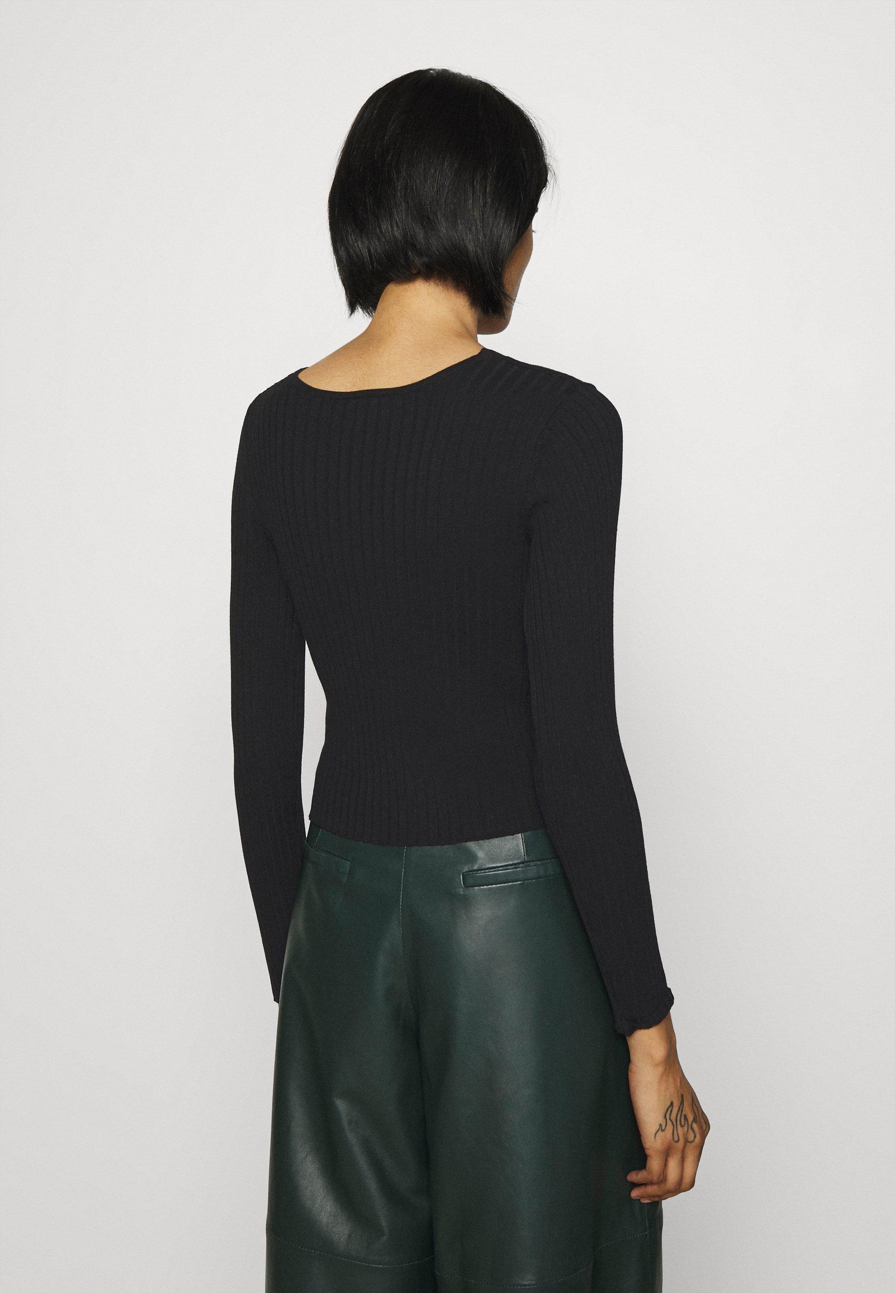 Monki Silja - Cardigan Black Dark/svart