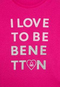 Benetton - Triko spotiskem - pink - 2