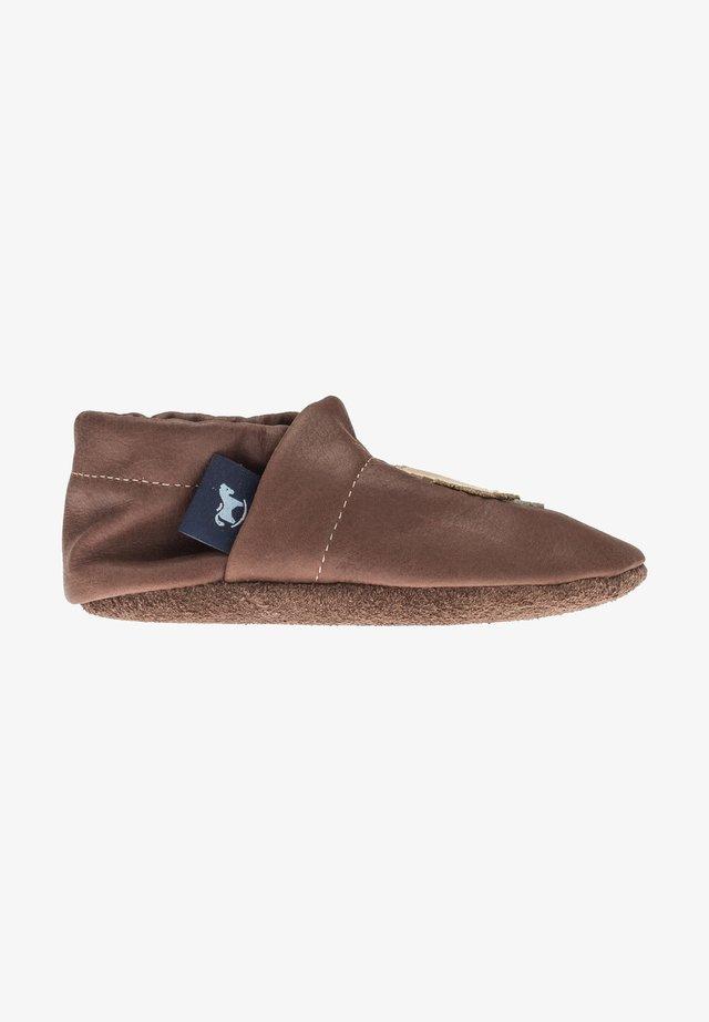 First shoes - dunkelbraun / apricot / beige