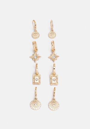PCLIBBY EARRINGS 4 PACK - Earrings - gold-coloured
