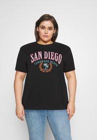Even&Odd Curvy - Camiseta estampada - black - 0