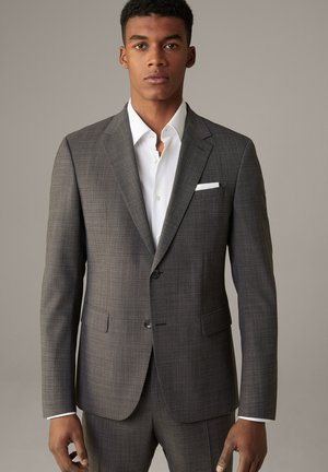 BAUKASTEN AIDAN - Suit jacket - braun-grau kariert